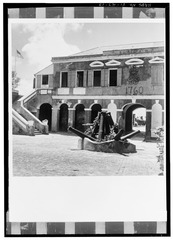 EAST ELEVATION OF WEST WALL, VIEWED FROM COURTYARD - Frederiksfort, King Street vicinity, Frederiksted, St. Croix, VI HABS VI,1-FRED,3-13.tif