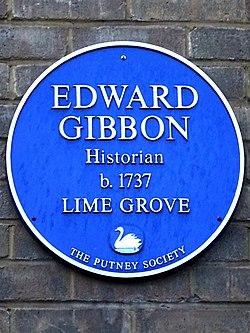 Edward gibbon historian b.1737 lime grove