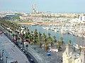 EL puerto deportivo de Barcelona desde el mirador del monumento a Cristóbal Colón - panoramio.jpg