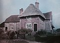 Early Colour image of thatched house now identified as Corhampton, Hampshire. Paget Colour process (4938685858).jpg
