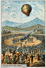 Hot air balloon first public demonstration in Annonay, 1783-06-04