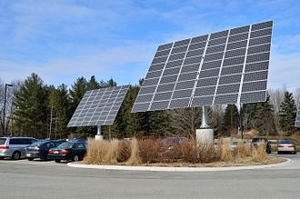 Solar panel - Solar modules mounted on solar trackers