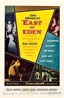 <i>East of Eden</i> (film) 1955 drama film directed by Elia Kazan, loosely based on the 1952 novel by John Steinbeck