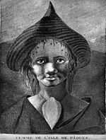Drawing of Easter Island Woman, 1777