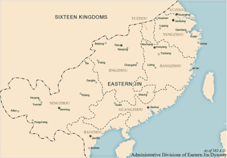History of the administrative divisions of China before 1912 - Administrative divisions of Eastern Jin dynasty, as of 382 AD