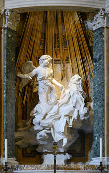 Gian lorenzo bernini sculptural depiction of the ecstasy of saint teresa