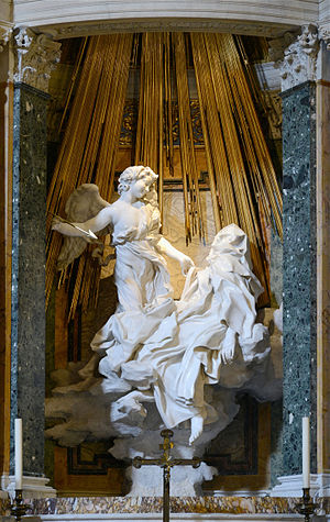 Teresa of Ávila - The Ecstasy of Saint Teresa by Bernini, Basilica of Santa Maria della Vittoria, Rome.