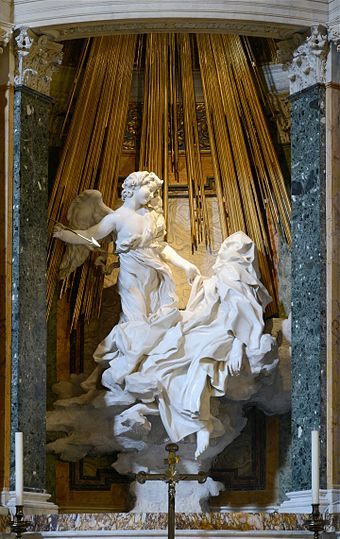 The Ecstasy of Saint Teresa by Bernini, Basilica of Santa Maria della Vittoria, Rome Ecstasy of Saint Teresa September 2015-2a.jpg