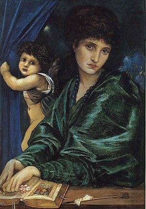 Maria Zambaco - Maria Zambaco, née Cassavetti, in Cupid and Psyche by Edward Burne-Jones