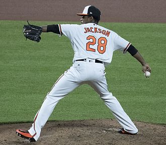 Edwin Jackson - Jackson with the Orioles in 2017