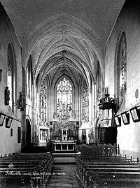 Eglise Saint-Jacques-le-Majeur et Saint-Jean-Baptiste - Vue intérieure de la nef vers le choeur - Folleville - Médiathèque de l'architecture et du patrimoine - APMH00001248.jpg