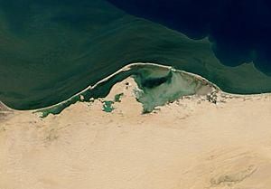 Lake Bardawil - Satellite Image of Lake Bardawil
