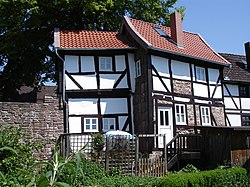 Medieval wall and timbered houses in Dassel