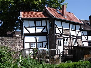 Dassel - Medieval wall and timbered houses in Dassel