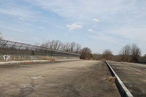 Eisenhower Parkway - View on top of the bridge in March 2014.