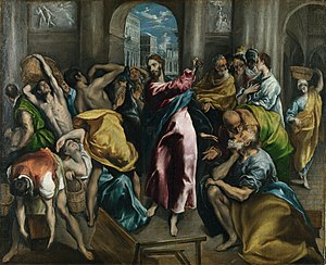 Christ Driving the Money Changers from the Temple (El Greco, London) - Image: El Greco 016