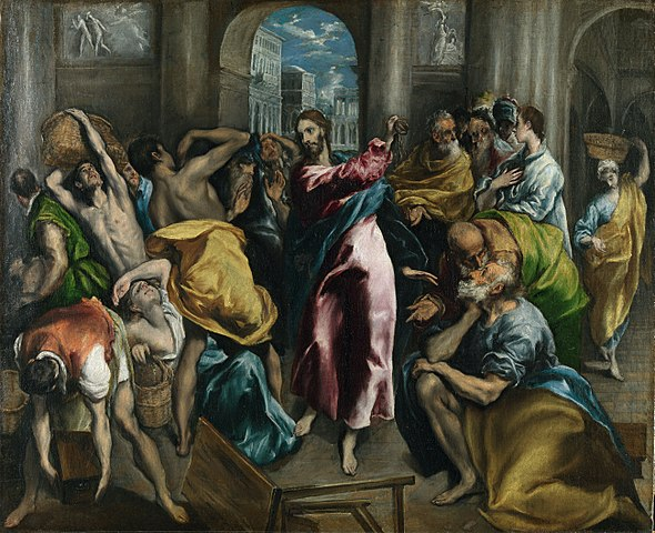 El Greco, Scourging the Moneychangers from the Temple