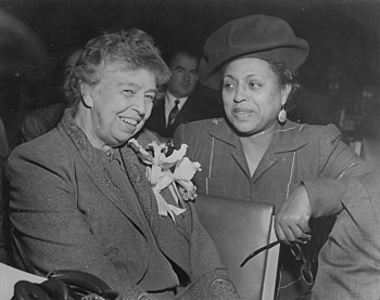 Eleanor Roosevelt and Edith Sampson at United ...