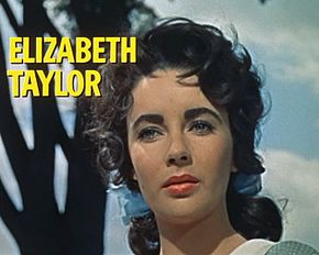 Description de l'image  Elizabeth Taylor in Giant trailer.jpg.