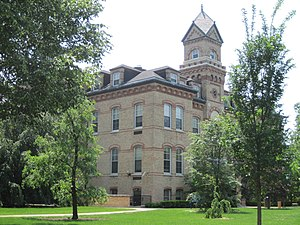 Elmhurst, Illinois - The Old Main building at Elmhurst College dates to 1878.