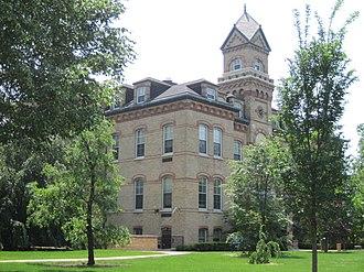 Elmhurst College - The Old Main building at Elmhurst College