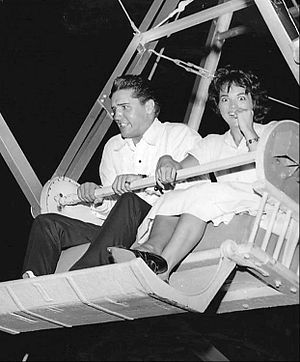 Anita Wood - Wood and Elvis on a ferris wheel, 1960