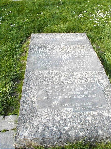 Poème de Emile Verhaeren à Roisin près du Caillou qui bique , lieu de détente où il a résidé