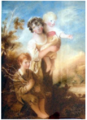 Emma Eleonora Kendrick Miniature of The Wood Gatherers after Gainsborough 1836.png