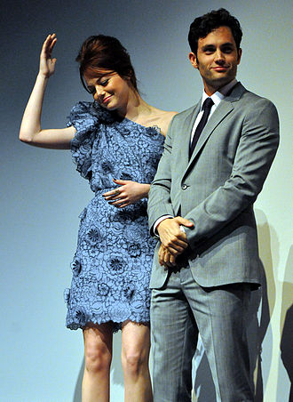 Easy A - Emma Stone and Penn Badgley at the film's Toronto premiere.