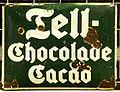 Enamel advertising sign, Tell-Chocolade Cacao.JPG