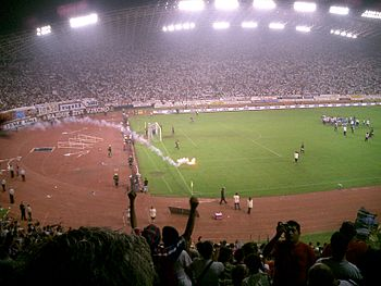 End of the match between Hajduk Split - Dinamo Zagreb