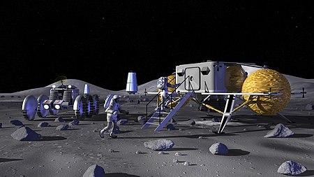 Entering a Lunar Outpost