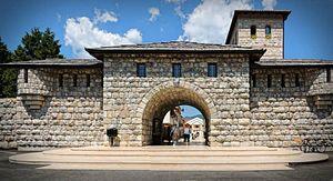 Andrićgrad - Main entrance of Andrićgrad