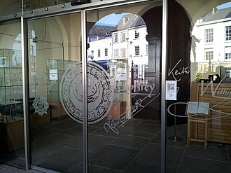 Shire Hall, Monmouth - Image: Entrance to the Shire Hall, Monmouth