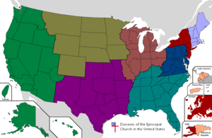 Province 2 of the Episcopal Church in the United States of America - Image: Episcopal Church Diocesesmap