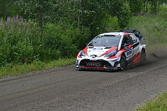 Toyota Gazoo Racing WRT - Esapekka Lappi on the way to victory in the 2017 Rally Finland