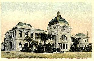 Maputo Railway Station - Image: Estação Ferroviária de Lourenço Marques (c. 1920)