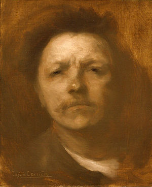 Eugène Carrière - Self-portrait (c. 1893), oil on canvas  Metropolitan Museum of Art