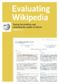 Evaluating Wikipedia 2013 brochure cover.png