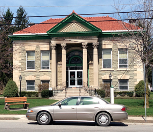 Alden, New York - Ewell Free Library in Alden was built in 1913.