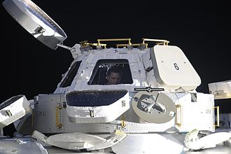Expedition 25 - Expedition 25 commander Douglas Wheelock in the Cupola.