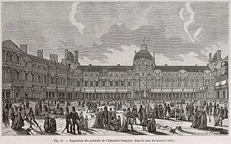 Exposition des produits de l'industrie française - Exposition des produits de l'industrie française, Court of the Louvre (1801)