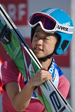 FIS Ski Jumping World Cup Ladies Hinzenbach 20170205 DSC 0233.jpg