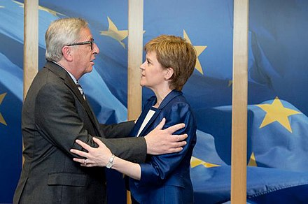 President of the European Commission Jean-Claude Juncker and First Minister Nicola Sturgeon FM meets with Juncker.jpg
