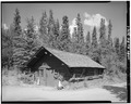 FRONT CORNER, LOOKING NORTH - Mount McKinley Headquarters, Boiler House, Cantwell, Denali Borough, AK HABS AK,23-MCKIN,1-K-1.tif