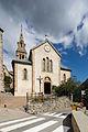 Façade de l'église Sainte-Anne, Huez, France.jpg