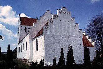 Kirk o' Field - Accused of the murder, the Earl of Bothwell escaped to Norway, but was imprisoned for the rest of his life at Dragsholm in Denmark and buried at Fårevejle Church, shown above.