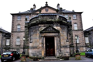 Pollok House - Facade of the Pollok House, Glasgow.