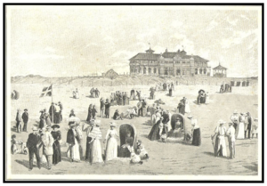1892 in Denmark - The inaugurated of Fanø Nordsøbad, illustration from Illustreret Tidende