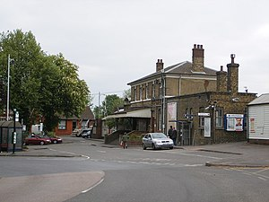 Farnham - Front of Farnham railway station